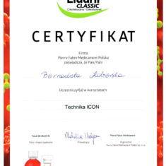 Bernadeta Kobierska Certyfikat technika ICON